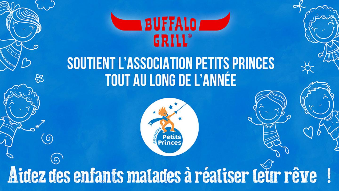 BUFFALO GRILL SOUTIENT L'ASSOCIATION PETITS PRINCES